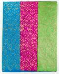 LOKTA BLOCK PRINTED GIFT WRAP - BLUE, PINK AND GREEN